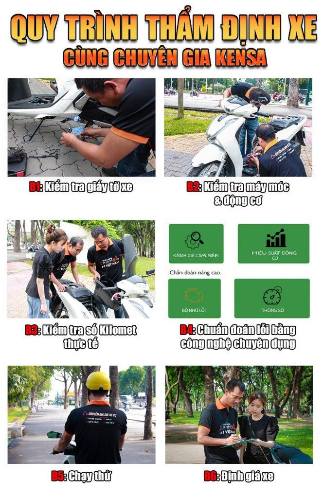 Quy trình kiểm tra xe máy cũ