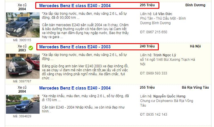 có nên mua xe Mercedes E240 cũ