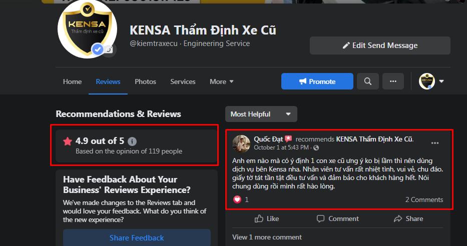 review kensa, đánh giá kiemtraxecu.com, đánh giá dịch vụ kensa, review công ty kensa